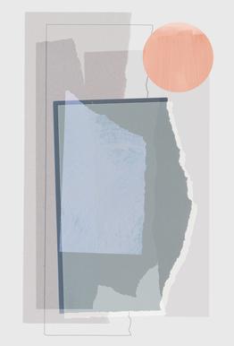 Pieces 10B -Acrylglasbild