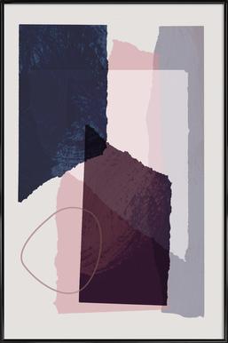 Pieces 12 -Bild mit Kunststoffrahmen