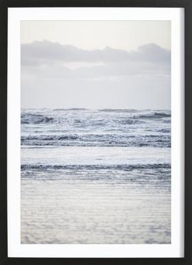 The Sea Poster in Wooden Frame