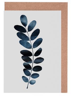 Watercolor Leaves 11 Grußkartenset