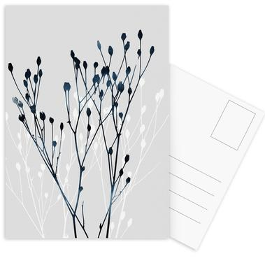 Watercolor Leaves 12 -Postkartenset