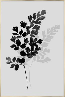 Watercolor Leaves 14 Poster im Alurahmen