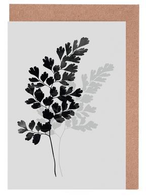 Watercolor Leaves 14 Grußkartenset