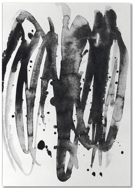 Watercolor Leaves 14A Notizblock
