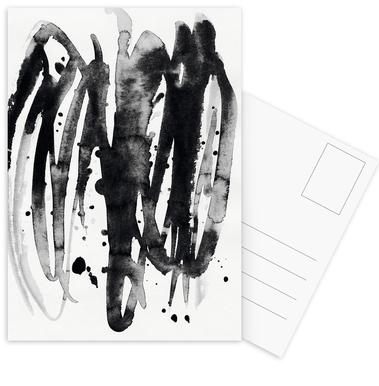 Watercolor Leaves 14A Postkartenset