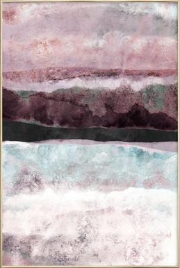 Watercolors 24 -Poster im Alurahmen