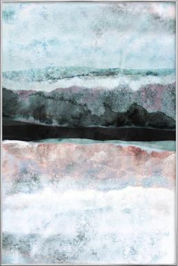 Watercolors 24X Poster in Aluminium Frame