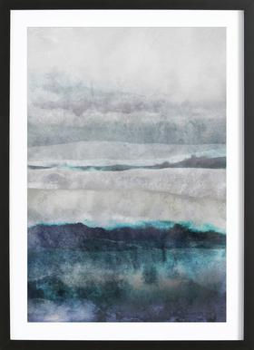 Watercolors 29 Poster in Wooden Frame
