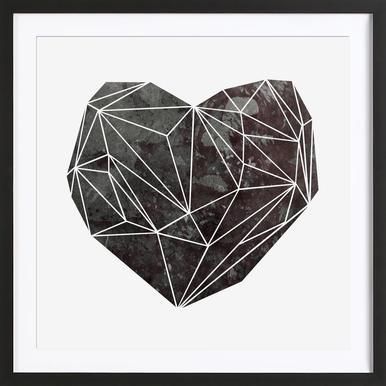 Heart Graphic 4 Poster im Holzrahmen