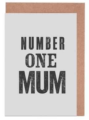 Number One Mum Lykønskningskort sæt