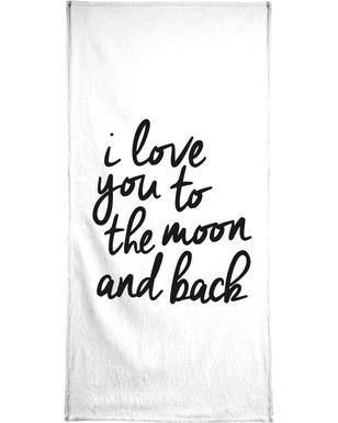 I Love You to the Moon and Back handdoek
