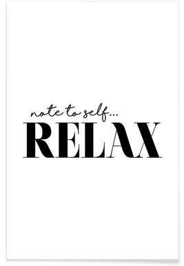Note To Self Relax Poster