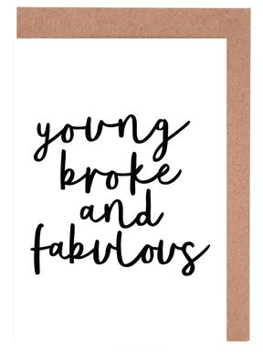 Young Broke And Fabulous cartes de vœux