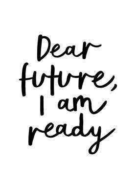 dear future i am ready as greeting card set juniqe