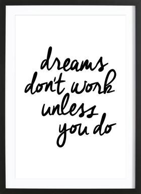 Dreams Poster im Holzrahmen