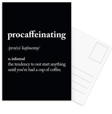 Procaffeinating -Postkartenset
