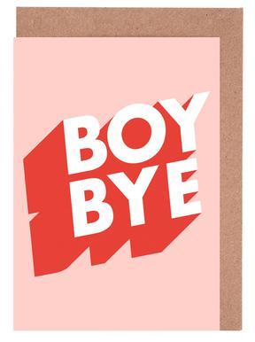 Boy Bye cartes de vœux