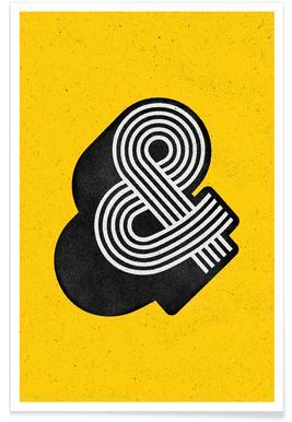 Ampersand Yellow Affiche