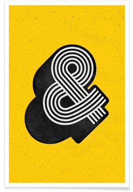Ampersand Yellow Poster