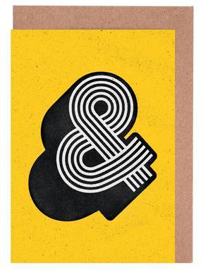 Ampersand Yellow cartes de vœux