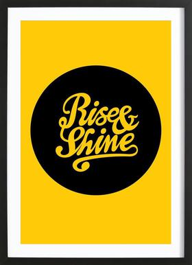 Rise & Shine Poster in Wooden Frame