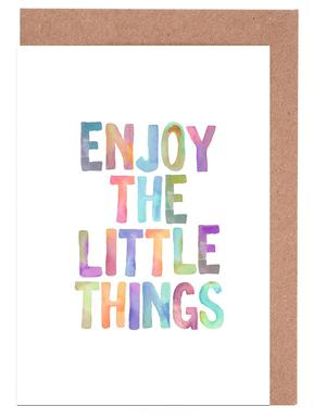 Enjoy The Little Things Greeting Card Set