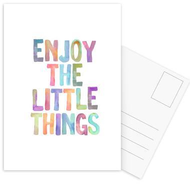 Enjoy The Little Things Set de cartes postales