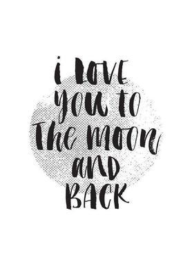 I Love You To The Moon And Back Als Handdoek Juniqe