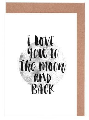 I Love You To The Moon And Back Set de cartes de vœux