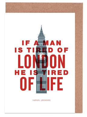 If A Man Is Tired Of London cartes de vœux