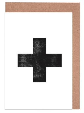 Swiss Cross White cartes de vœux