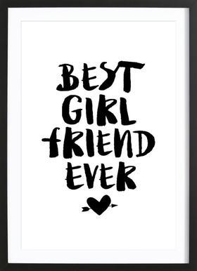 Best Girlfriend Ever Poster in Wooden Frame