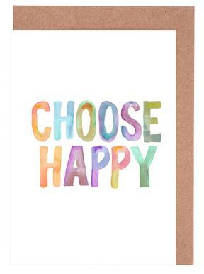 Choose Happy wenskaartenset