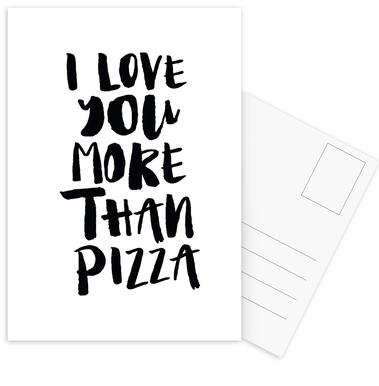 I Love You More Than Pizza Als Handdoek Juniqe