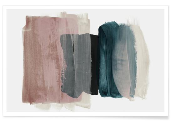 Minimalismus-Rosa und Blau – abstrakt Poster