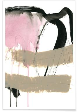 Abstract Pink and Brown Poster