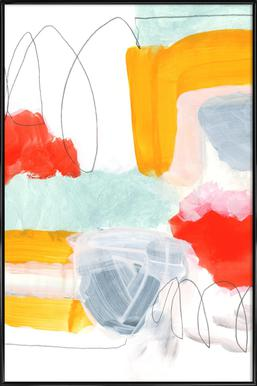 Abstract Painting XVI -Bild mit Kunststoffrahmen