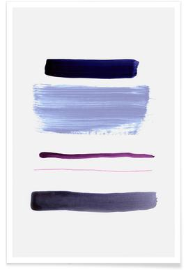 Abstract Purple Poster