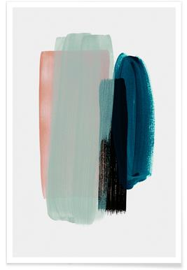 Abstract Pink and Teal Poster