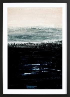 Minimalist Landscape 3 Poster im Holzrahmen
