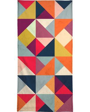 Bright Geometric Happy Pattern Bath Towel