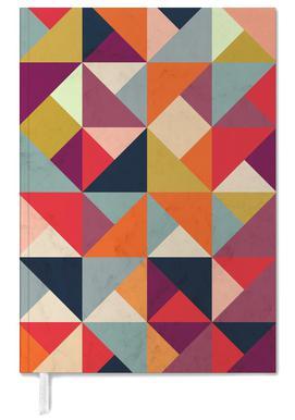 Bright Geometric Happy Pattern Personal Planner