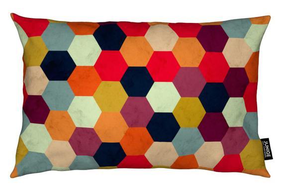 Colorful Beehive Pattern Kudde
