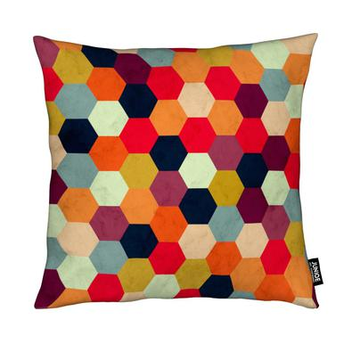 Colorful Beehive Pattern Cushion