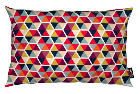 Colorful Umbrellas Geometric Pattern Cushion