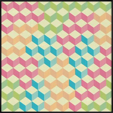 SugarCubes Geometric Pattern Framed Poster
