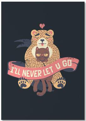 I'll Never Let You Go Bear Love Cat Bloc-notes