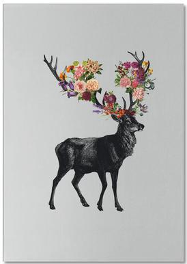 Sprint Itself Deer Floral notitieblok