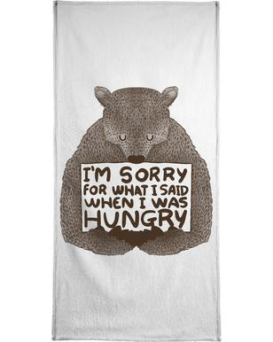 I'm Sorry For What I Said When I Was Hungry handdoek