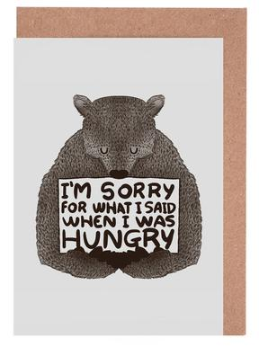 I'm Sorry For What I Said When I Was Hungry Set de cartes de vœux